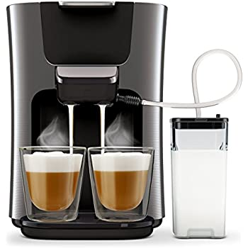 philips senseo hd7855 50 latte duo kaffepadmaschine mit milchsystem schwarz. Black Bedroom Furniture Sets. Home Design Ideas