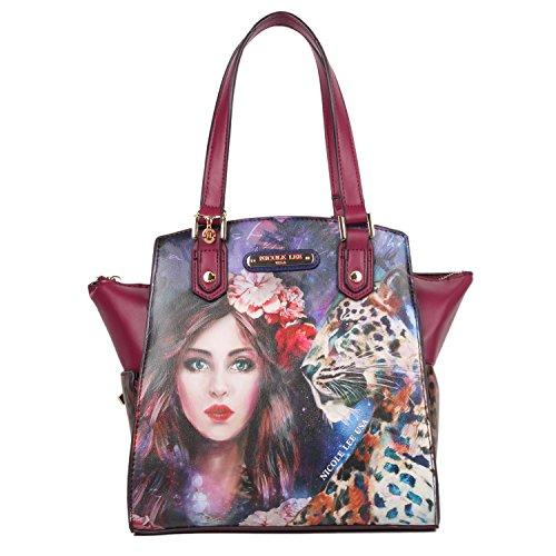 Nicole Lee Women s Adeen Smart Lunch Handbag Vol. 2 Travel Shoulder Bag,  Wild Eclypse ec4b49ae70