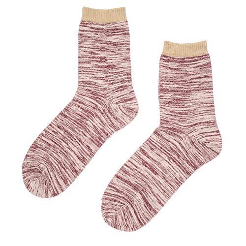 XXIAZHI,10 Pares de Zapatos de Lona de los Pares de la Raya de la Moda clásica de Punto Primavera otoño Becerro Calcetines(Color:Lavanda (Color primario),Size:Una Talla)