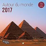 Nouvelles Images Calendrier 2017 Autour du monde 16 mois 14,5 x 14,5 cm