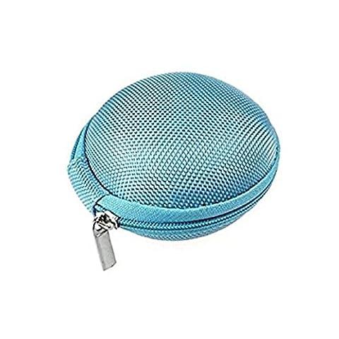 Gemini _ Mall® Écouteurs étui de rangement, Mallette de transport rigide universel Pochette pour écouteurs, écouteurs, MP3, iPod Shuffle, iPod Nano 6, cartes mémoire, salle de sport, bleu, Taille unique