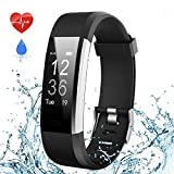 Fitness Armband Uhr mit Pulsmesser Wasserdicht IP67 Fitness Tracker mit 14 Trainings ModiAktivitätstracker Pulsuhren Bluetooth Smart ArmbandUhr Schrittzähler mit Schlafmonitor Kalorienzähler Vibrationsalarm Anruf SMS Whatsapp Beachten für iPhone Android Handy( iPhone Samsung Huawei ecc)