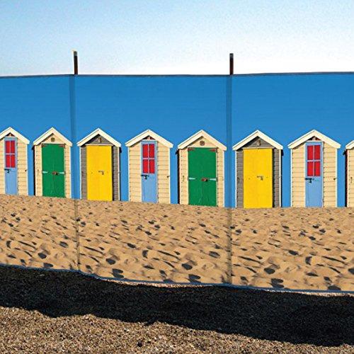 laeto Sport und Outdoor 4Pol 4'Strandhütten Bedruckt Windschutz für Outdoor am Strand