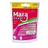 Interdentalbürste Pink von MARA EXPERT | 0,4mm ISO 0 extra fein | 12 + 2 Interdentalbürsten – Bürsten für Zahnzwischenräume | Zahn Pflege Ergänzung