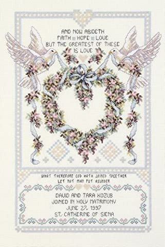 Janlynn Metal Platinum Collection Wedding Doves Counted Cross Stitch Kit