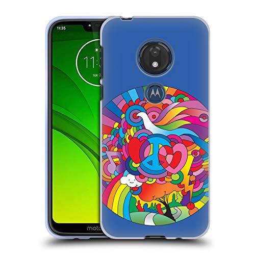 Head Case Designs Offizielle Howie Green Friedens, Liebe Und Musik Kreis Soft Gel Huelle kompatibel mit Motorola Moto G7 Play