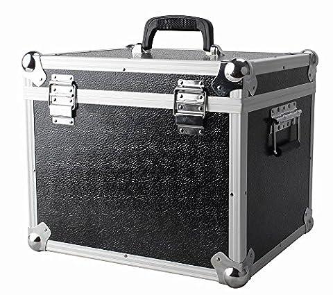 NEO-100LP Aluminum Silver or Black Storage DJ Case for 100 Vinyl LP Records 12