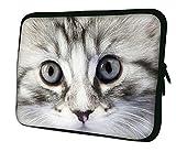 """Luxburg 17"""" pouces Housse Sacoche Pochette pour ordinateur portable/tablet - Yeux Pussycat"""