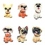 CDELEC 6 Teil / satz Nette Reizende Einfache Stilvolle Authentische Mode Auto Styling Hund Puppe Auto Hund Nicken Schütteln Kopf Schütteln Hund