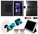 reboon Hülle für Acer Aspire Switch 10 V Tasche Cover Case Bumper | in Schwarz Leder | Testsieger