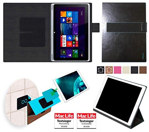 reboon Acer Aspire Switch 10 V Hülle Tasche Cover Case Bumper | Schwarz Leder | Testsieger
