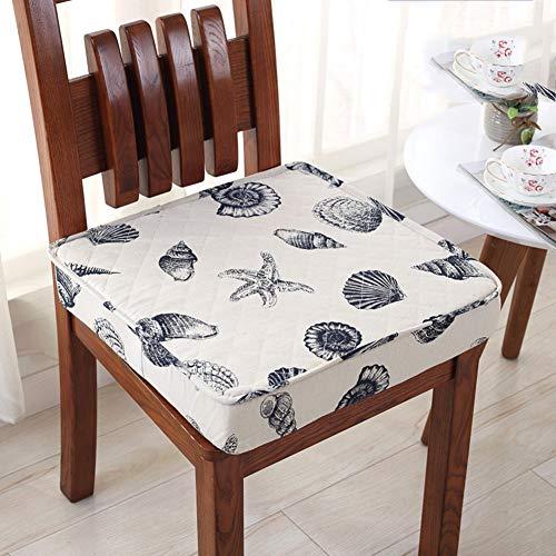 F-LFJBK Höhenwagenstuhl Kissen,Nicht-Slip Thicken Cotton&Linen Dining Chair Sitz Auflage,Schwamm Tatami Futon Taille Matte Backing Block Kissen-j 45x45x8cm(18x18x3inch)