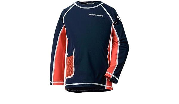 Didriksons Kids Surf Long Sleeved UPF50 UV Rash Vest Sun TopTurquoise