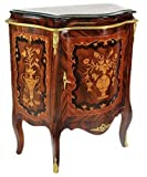 Casa Padrino Barock Kommoden Schrank mit Marmorplatte Mahagoni Intarsien – Möbel Kommode - 2