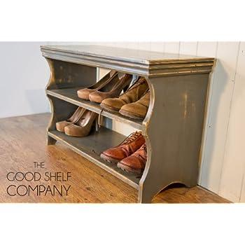 Shoe Storage Cabinet, Rack, Bench, Stool - Vintage Grey: Amazon.co ...