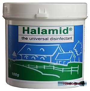 HALAMID - DAS ORIGINAL! CHLORAMIN-T - Professionelles Desinfektionsmittel gegen Viren, Bakterien, Pilze und einzellige Ektoparasiten im Koiteich und am Koi, 100 g