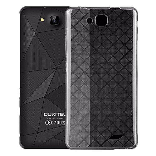 Easbuy TPU Transparent Silikon Tasche Case Etui Cover Hülle für Oukitel C3