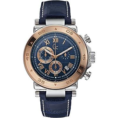 Guess X90015G7S - Reloj para hombres, correa de cuero color azul