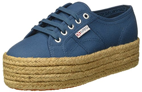 Superga 2790 Cotropew, Baskets de plate-forme mixte adulte Blue (smoky Blue)