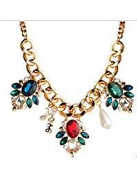 TBOP NECKLACE THE BEST OF PLANET Simple And Stylish Jewelry Diamond Cut Off The Pearl Rough Chain Necklace In...