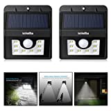 Solalite® TWIN PACK 8 LED Security Garden Solar light, 3-in-1 Solar Wall Lights Outdoor Waterproof Solar Power Lights with 120 Degree Wide Angle Motion Sensor Solar for Garden, Patio, Path Lighting
