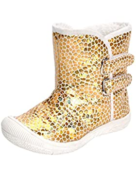 Amcool Baby Junge Mädchen Gold Leopard Stiefel Prewalker warme Martin Stiefel