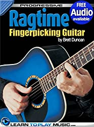 Ragtime Fingerstyle Guitar Lessons: Teach Yourself How to Play Guitar (Free Audio Available) (Progressive) (English Edition)