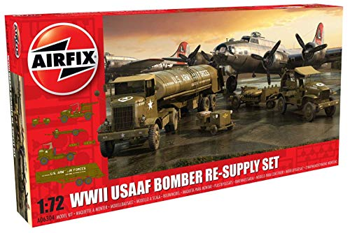Airfix- WWII USAAF 8th Air Force Bomber Kit de Modelismo, Multicolor (Hornby Hobbies A06304)
