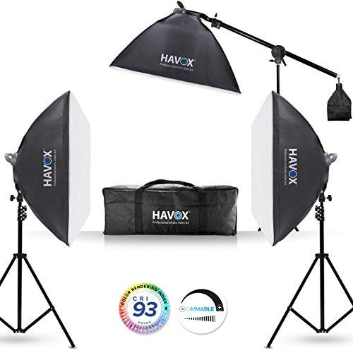 HAVOX - Softbox Fotostudio Video HCL-1350 - LED 5500K - CRI 93 - Softbox studiole per foto e videocamere