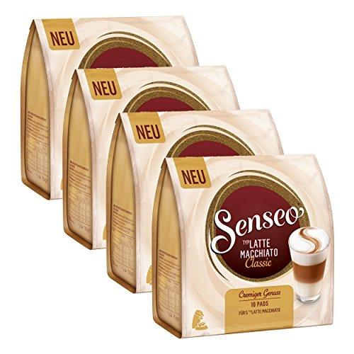 Senseo Kaffeepads Latte Macchiato Classic, Milchkaffee, Kaffee Pad, 10 Pads, 360 g