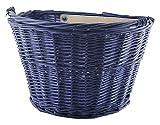 Fahrradkorb für Lenker Weide Korbgeflecht Transportkorb Weidenkorb #2352, Farbe:Blau -