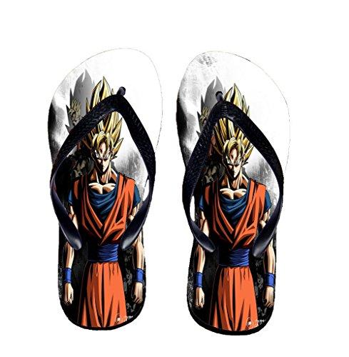 Bromeo Dragon Ball Anime Unisex Flip Flops Zehentrenner Flip Pantoffeln 887