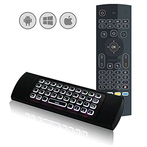 Backlit MX3 Air Mouse Remote with Keyboard LONGYAO 2 4Ghz Wireless QWERTY  Keyboard Air Mouse for Android TV Box Kodi Raspberry Pi PS3 Xbox 360 LG