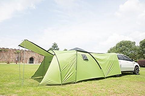 Zelt Familienzelt für 4 Personen Campingzelt Wassersäule 3000mm (160+220+140)*220*180CM ( will eine Yoga Handtuch beschenken)