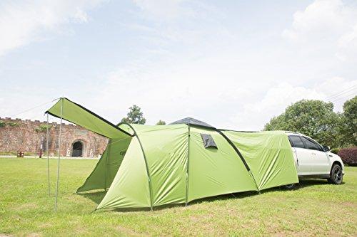 Zelt für 4 Personen Wassersäule 3000mm Campingzelt Familienzelt (160+220+140)*220*180CM