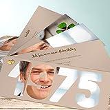 Einladungskarte zum 40 Geburtstag, Jahrgang 1975 200 Karten, Kartenfächer 210x80 inkl. Umschläge, Braun