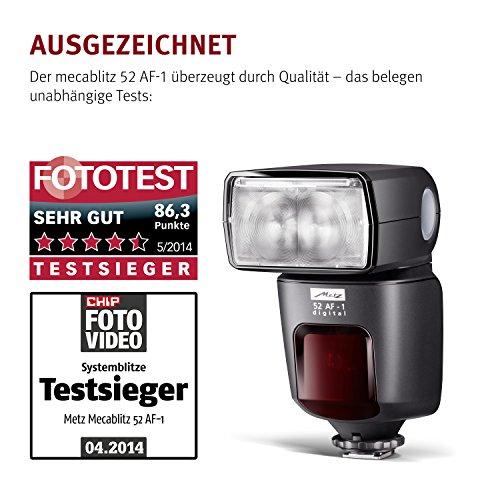 Metz mecablitz 52 AF-1 für Pentax Kameras (DSLR und CSC) | Top Blitzgerät mit P-TTL, Leitzahl 52, HSS (High Speed Sync), Touch-Display etc. - 5