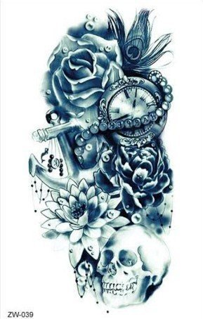 arm-tattoo-skull-dunkel-blau-fake-tattoo-zum-kleben-totenkopf-mit-lotus-rosen-z039