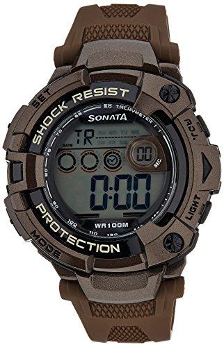 51f2hwSemEL - Sonata 77010PP01 Digital Grey Mens watch