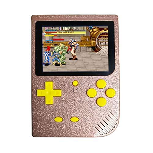 ielkonsole|, 3 Zoll 2000 Spiele Retro FC Game Player Tragbare Spiele Klassische Spielekonsole Geburtstagsgeschenk für Kinder (Hot Pink) ()