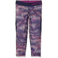 Nike niña g NP Hyper Cool Capri aop1Pantalones Capri, Puesta del Sol Tint Color Rosa/Bina eléctrico Azul/Grasa Bayas púrpura, L