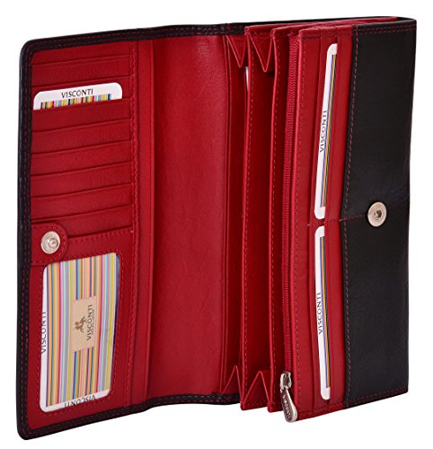 Visconti Cuir Femme Portefeuille Colorado Combination Leather Large Purse (CD-28):