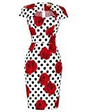 Belle Poque Retro Dress Women's Cocktail X-Large Floral-12(CL7597)