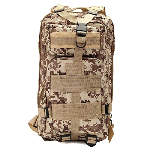 30l 3P zaino tattico, militare tattico zaini zaino per campeggio e trekking sport all' aria aperta zaino, Desert Digital Desert Digital