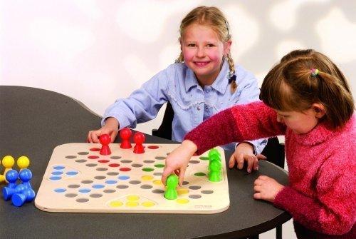Brettspiel 'Go 4', 50 x 50 cm mit 5 cm hohen Holzfiguren (LUDO), für 2 - 4 Spieler ab 3 Jahren!