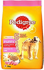 Pedigree Puppy Dry Dog Food, Chicken & Milk, 1.2kg