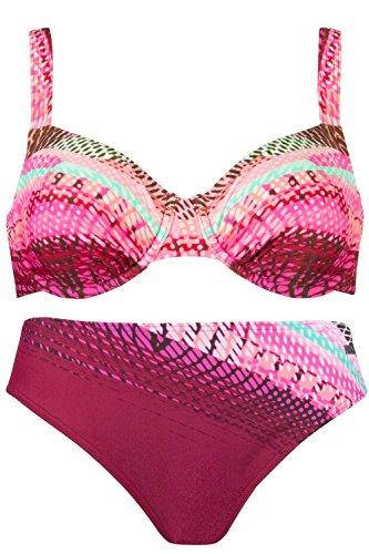 NATURANA Bügel Bikini 72417 Gr. 36-46 Cup B-D magenta-rosé-lagune