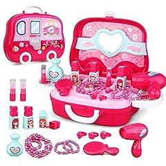 Idea Regalo - Fai finta di giocare Kit di gioielli per ragazze - Set di giocattoli principessa Regalo per Bambini di 3 anni