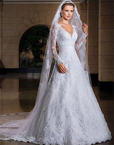 Lucky-u vestito da sposa lungo evening prom abito da sposa vestito da festa banchetto matrimoniale merletto delle donne sweetheart mermaid , us2
