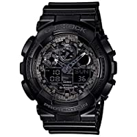 Casio G-Shock Watch For Men Ana-Digi Dial Resin Band - GA-100CF-1A